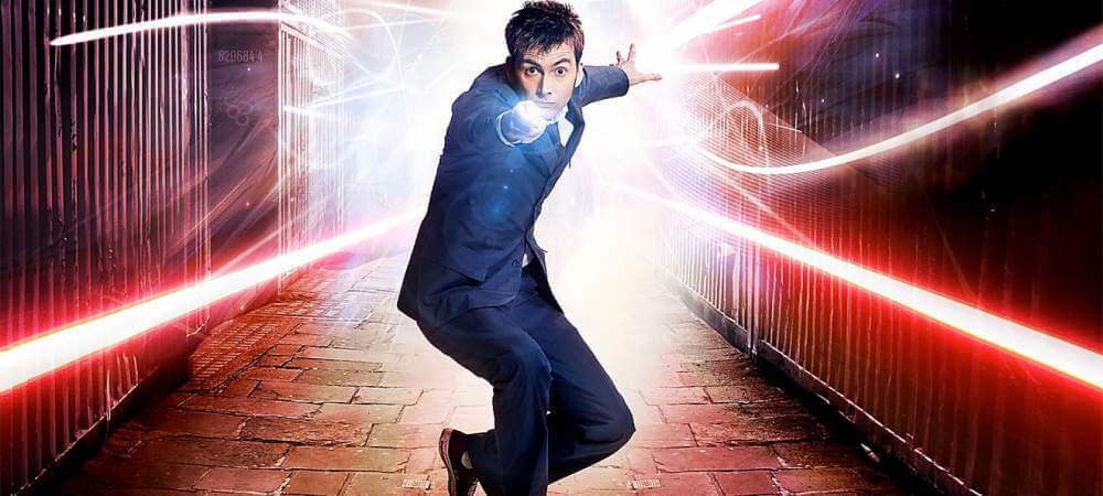 David Tennant como el décimo Doctor.