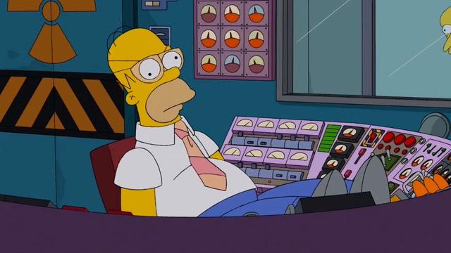 Homer con gafas, aparentando ser listo. Como yo en mi día a día.